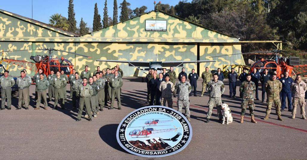 hangarx-fuerza-aerea-argentina-escuadron-lama-mendoza-busqueda-rescate-40-aniversario