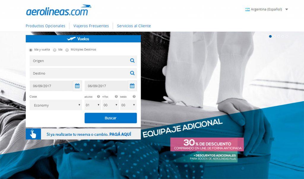 Aerolíneas Argentinas-plus-venta-online-equipaje-adicional-descuentos