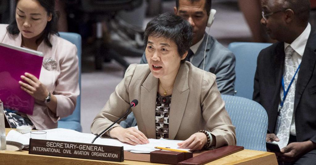 secretaria general oaci fang liu consejo seguridad naciones unidas hangarx