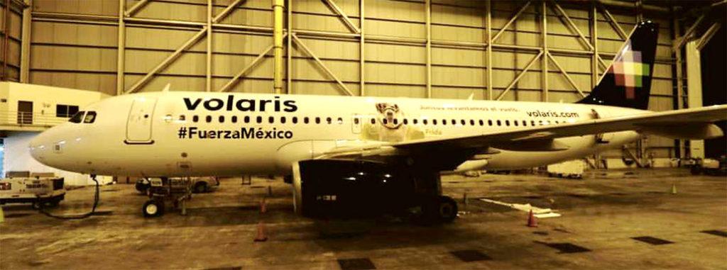 hangar x, avión, airbus, a320, linea, aerea, volaris, terremoto, mexico, rescatistas, victimas, perra, frida, homenaje
