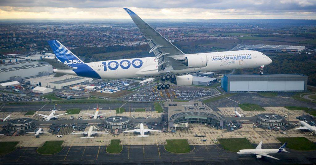 Airbus finalizó las pruebas de Funcionalidad y Confiabilidad del A350-1000