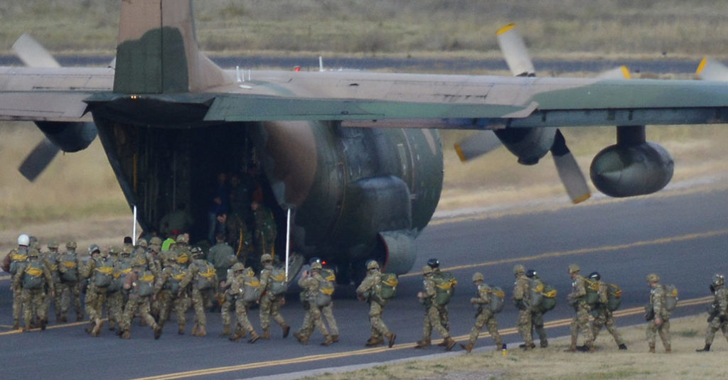 """La Fuerza Aérea Argentina desplegó una aeronave Hércules C-130 desde la I Brigada Aérea """"El Palomar"""" para participar del Ejercicio """"Respuesta Inmediata XIII"""""""