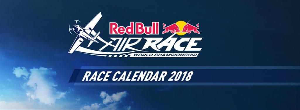 Calendario oficial de carreras del Red Bull Air Race 2018 presentado en Noviembre de 2017