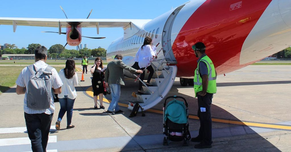 Avianca Argentina realizó el vuelo inaugural de su ruta entre Buenos Aires y Mar del Plata, operada con sus ATR 72-600