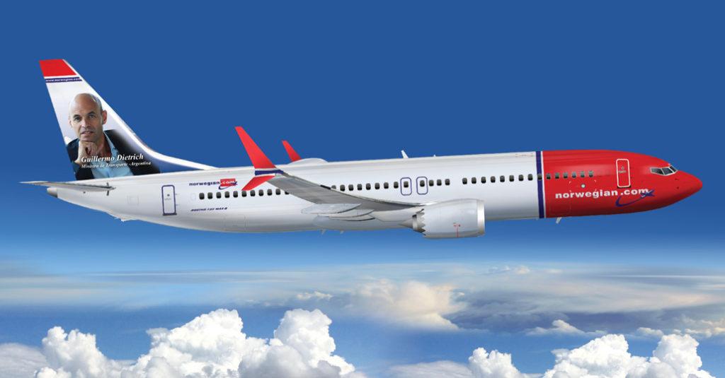 La aerolínea de bajo costo Norwegian Air Argentina (NAA) recibió hoy la autorización para la operación de 153 rutas por parte del Ministerio de Transporte de la Nación, que otorga a la compañía el permiso para operar vuelos a 73 destinos domésticos y 80 internacionales por un plazo de quince años.