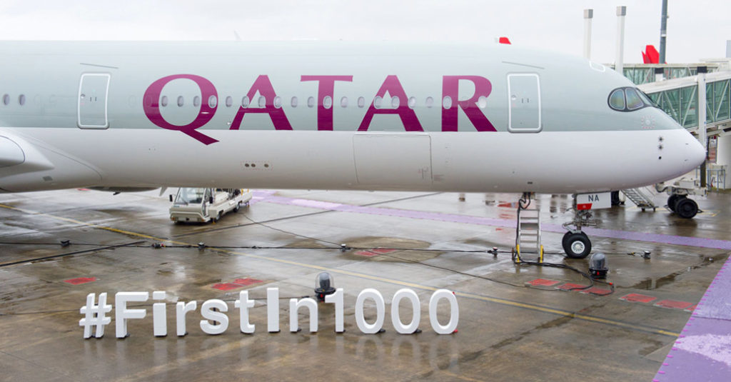 HANGAR X - Airbus entregó el primer A350-1000 a Qatar Airways