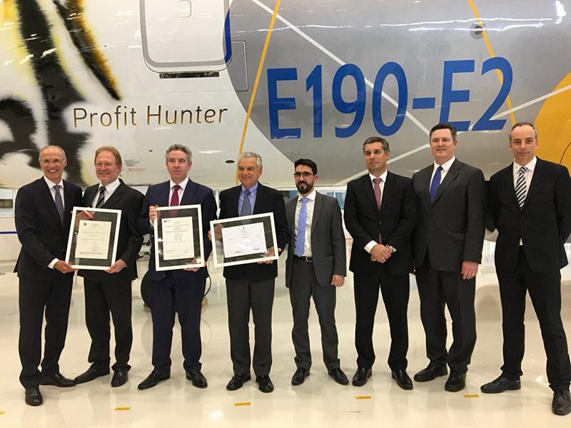 HANGAR X - Embraer recibió la certificacion para su modelo E190-E2