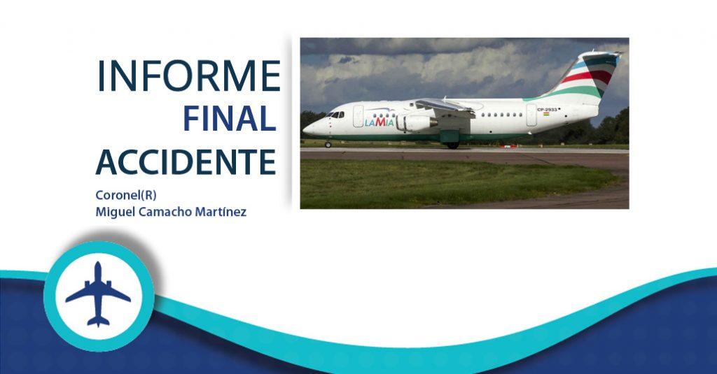 HANGAR X - LAMIA 2933 Presentaron el informe final sobre la tragedia del Chapecoense