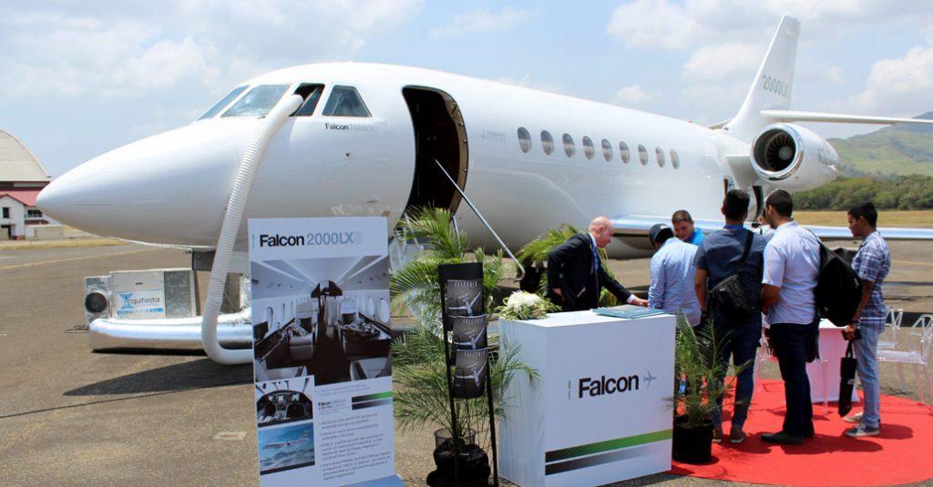 HANGAR X - Dassault Falcon LXS en Aero Expo Panamá 2018