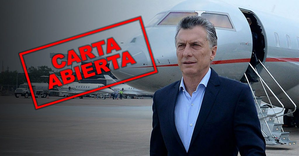 HANGAR X - Carta abierta de la Aviación Civil Argentina al Presidente Mauricio Macri