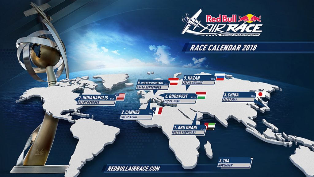 HANGAR X - Red Bull Air Race 2018 Calendario de carreras actualizado (Mayo/18)
