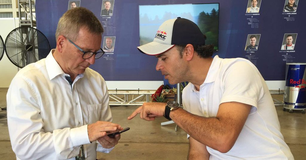 Erich Wolf, Red Bull Air Race, CEO with Sebastián Ventola, HANGAR X General Producer
