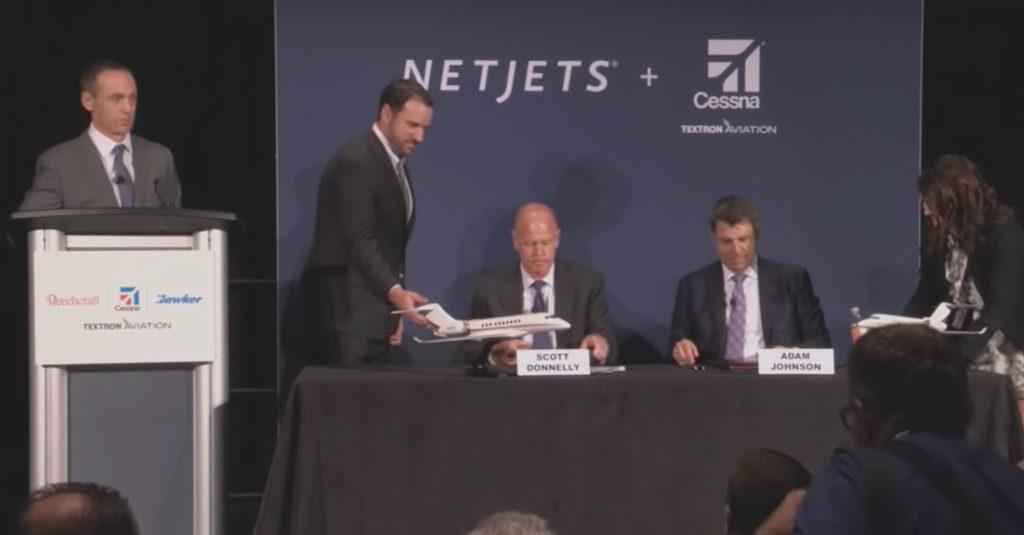 HANGAR X - NetJets firmó acuerdo con Textron Aviation por la compra de 325 Cessna Citation
