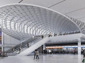 HANGAR X - Nuevo Hall de Partidas, Aeropuerto Internacional de Ezeiza (Render)