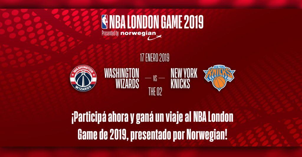"""HANGAR X - Norwegian te lleva a Londres para asistir al """"NBA London Game 2019"""""""
