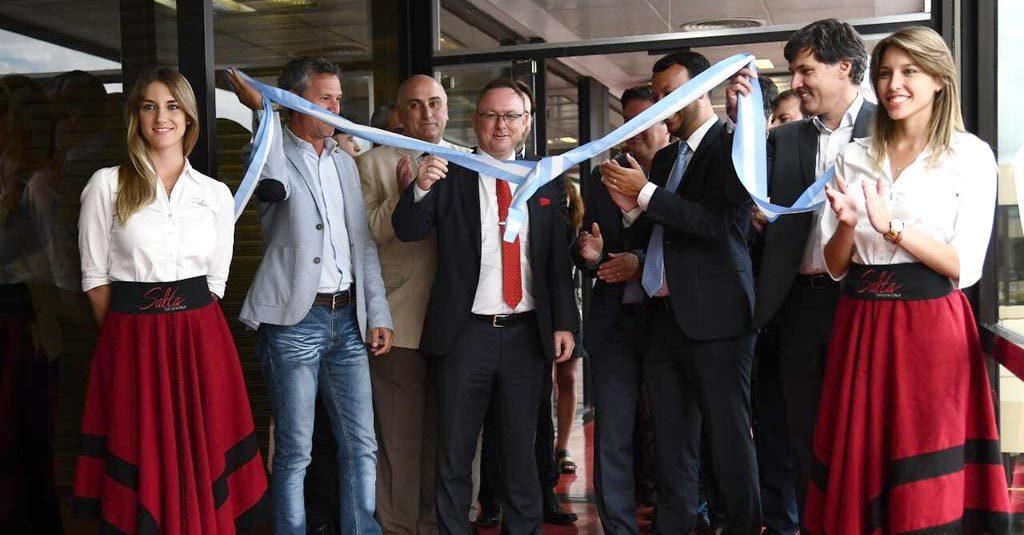 Ole Christian Melhus, CEO de Norwegian-Air-Argentina, inaugura la ruta a Salta