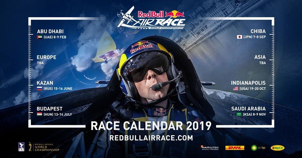 "Calendario ""Oficial"" del Red Bull Air Race 2019"
