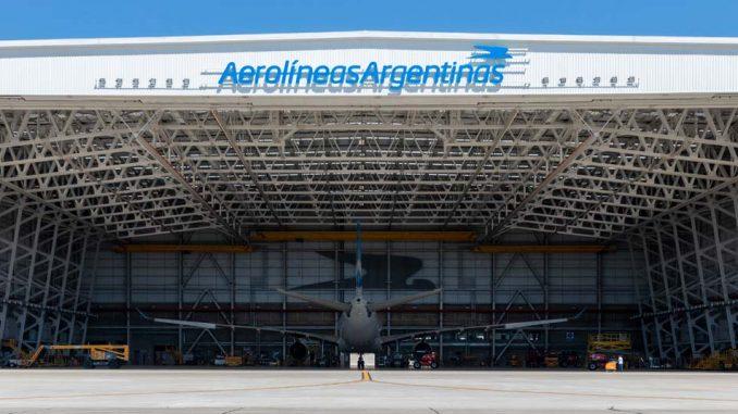 Hangar 5 de Aerolíneas Argentinas en el Aeropuerto Internacional de Ezeiza