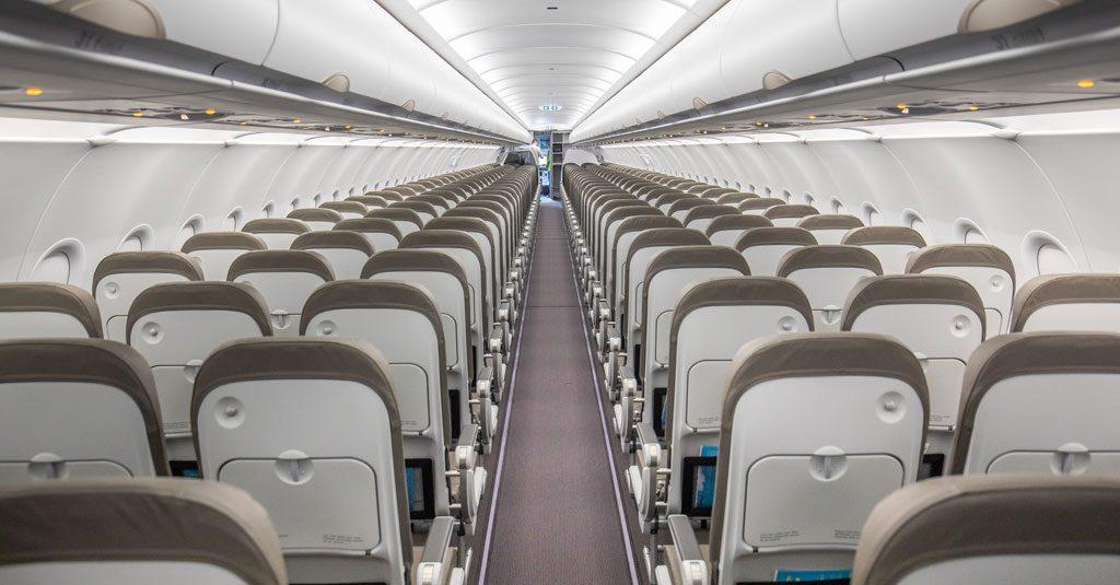Interiro del Airbus A320 LV-HEK de Jet SMART Argentina