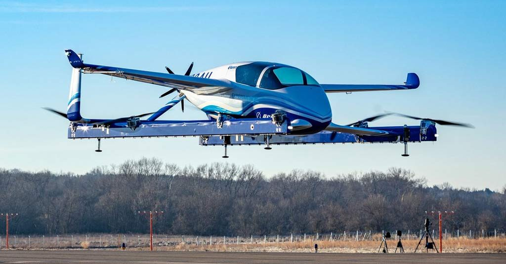 Boeing Autonomous Passenger Air Vehicle First Flight