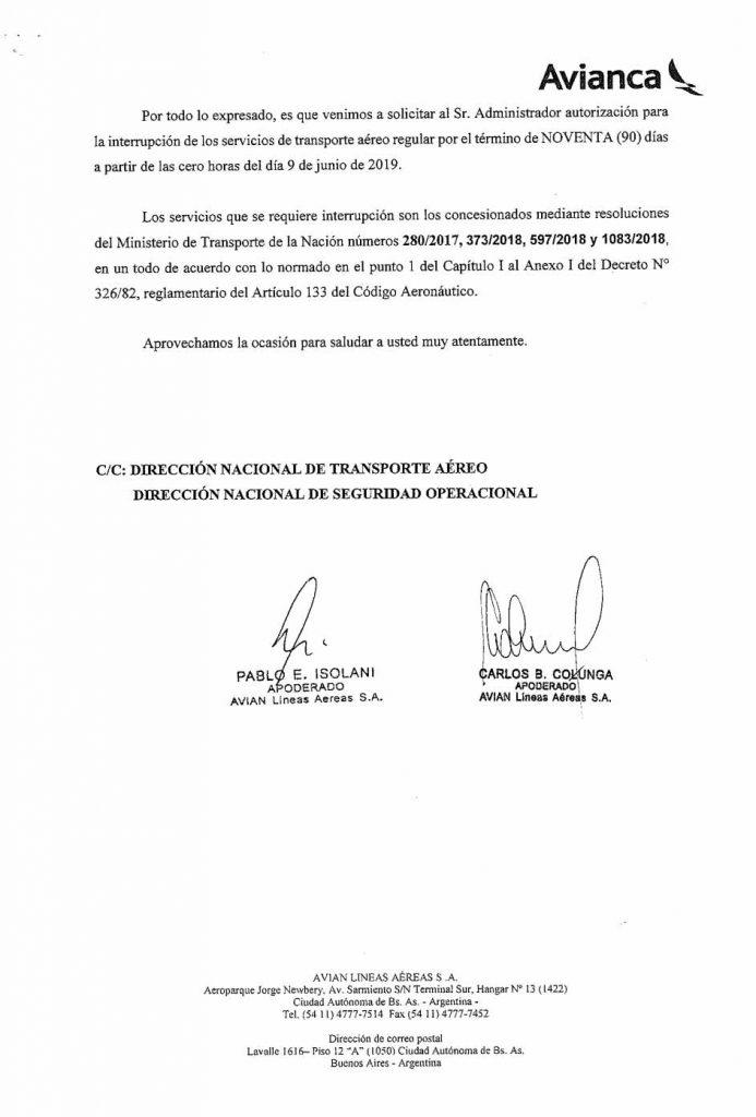 Avianca-Argentina-Interrupcion-de-Servicios-regulares-por-90-dias_003