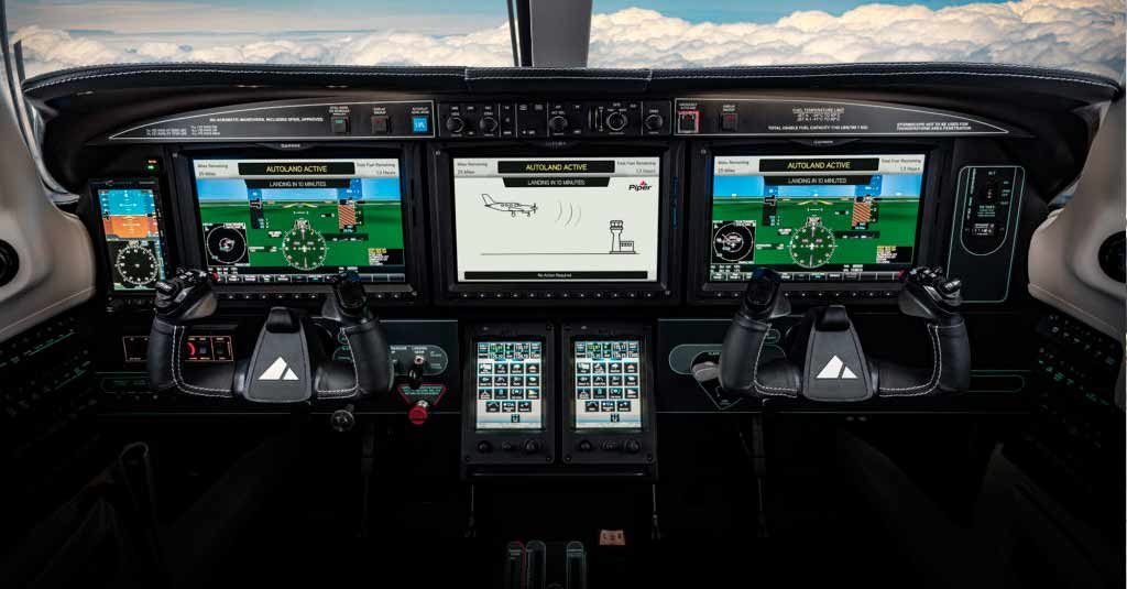 Piper M600-SLS_Cockpit Garmin G3000 with Autoland