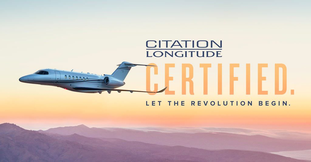 Textron Aviation Cessna Citation Longitude Certificación FAA