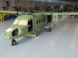 Cessna SkyCourier - Instalación de alas