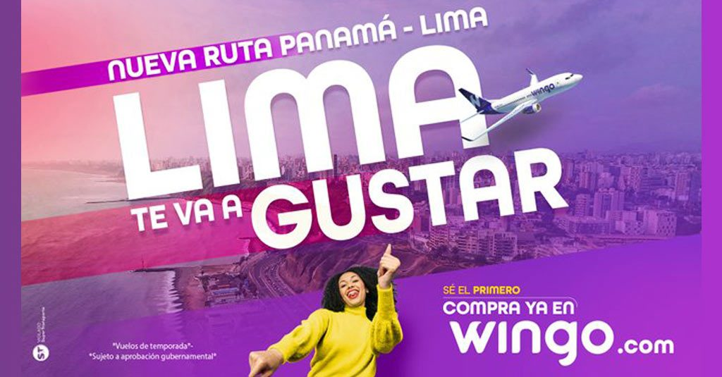 Wingo / Ruta Panamá - Lima