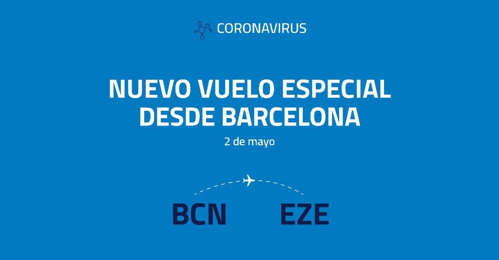Aerolíneas Argentinas - Barcelona (Vuelo Especial Mayo 2020)