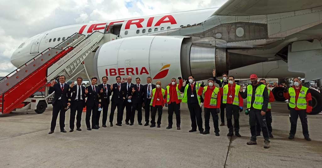 Iberia - Tripulación Airbus A330 Vuelos de repatriación (COVID-19)