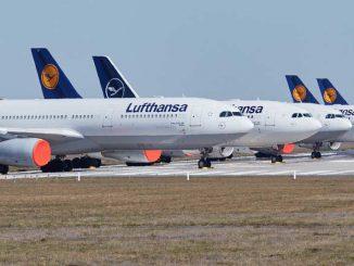 Lufthansa parked fleet - COVID-19
