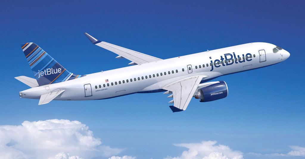 Airbus A220-300 / JetBlue (Render)