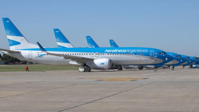 Aerolíneas Argentinas - Boeing 737-MAX8 Stored in Aeroparque (SABE)