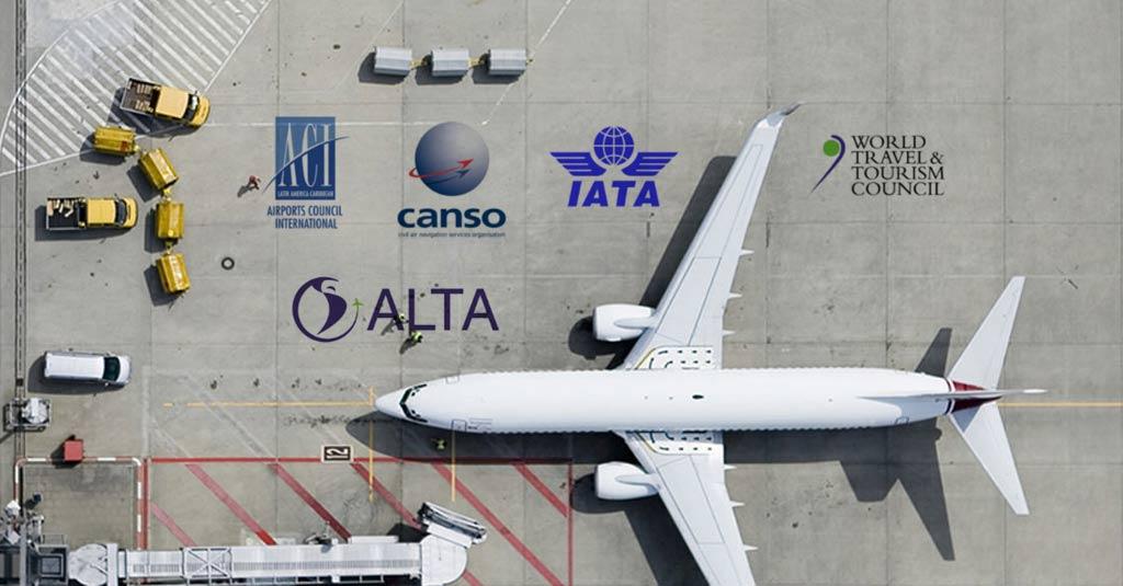 Carta abierta a los gobiernos de América Latina y el Caribe / IATA / ALTA / CANSO / ACI-LAC / WTTC