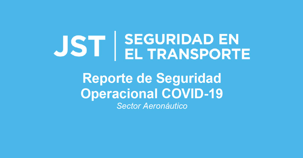 JST - Reporte de Seguridad Operacional (RSO) / Resolución 16/2020