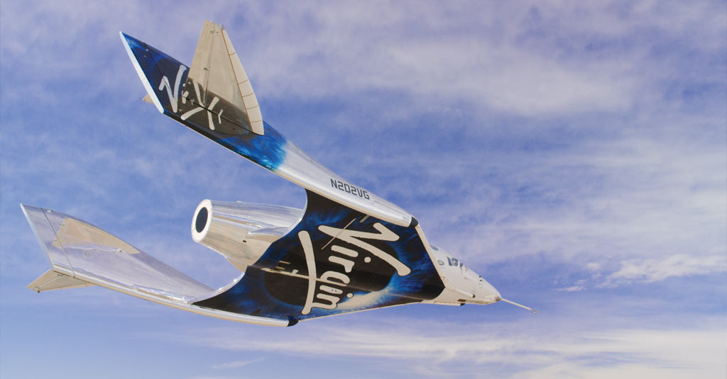 SpaceshipTwo Unity flying free in the New Mexico Airspace for the first time