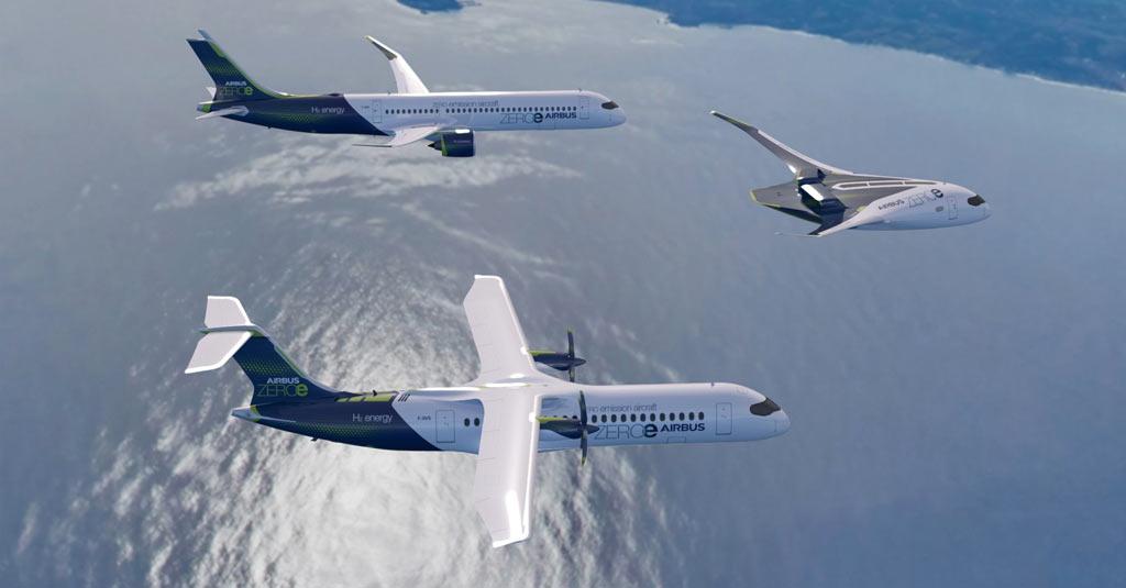 Airbus new zero emission concept aircraft