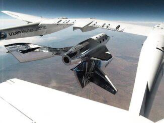 Lanzamiento de la SpaceShipTwo desde el WhiteKnightTwo - Virgin Galactic