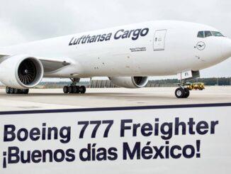 """Lufthansa Cargo / Boeing 777F """"Buenos Días México"""