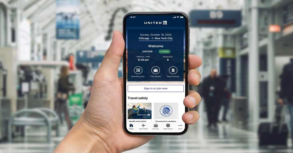 United Airlines  - Aplicación móvil para personas con discapacidades visuales