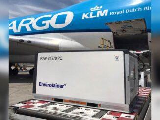 KLM Cargo transportó a Chile las primeras dosis de la vacuna contra el Covid-19