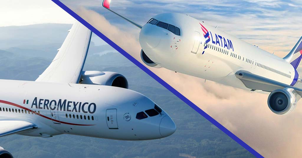 Aeroméxico firma acuerdo de código compartido con LATAM Brasil y Colombia