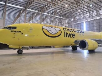 Brasil: Mercado Libre tiene el primer avión carguero con sus colores
