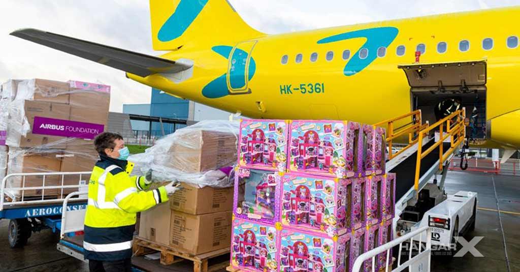 VivaAir y Airbus se unen para llevar juguetes a los niños de Colombia