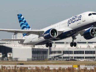 El primer Airbus A220 de Jet Blue realizó su vuelo inaugural