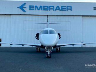 Embraer realizó la primer conversión de un Legacy 450 a Praetor 500 en Europa