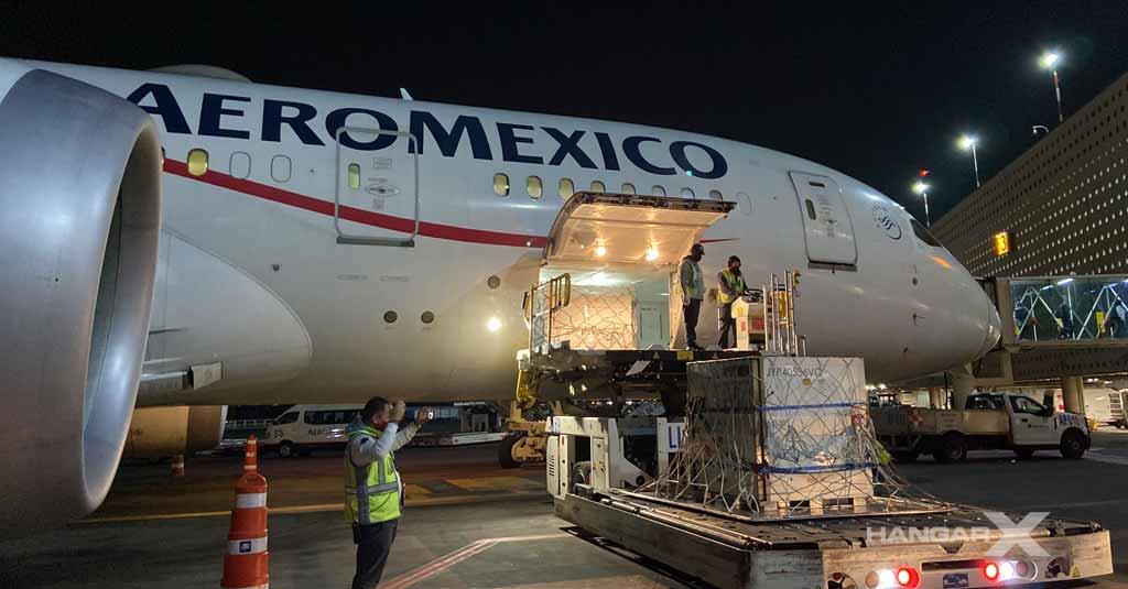 Aeroméxico transportó sustancia activa para la fabricación de la vacuna contra el COVID-19