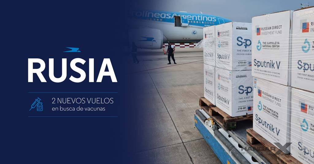 Aerolíneas Argentinas - Vacunas Sputnik V (Moscú)