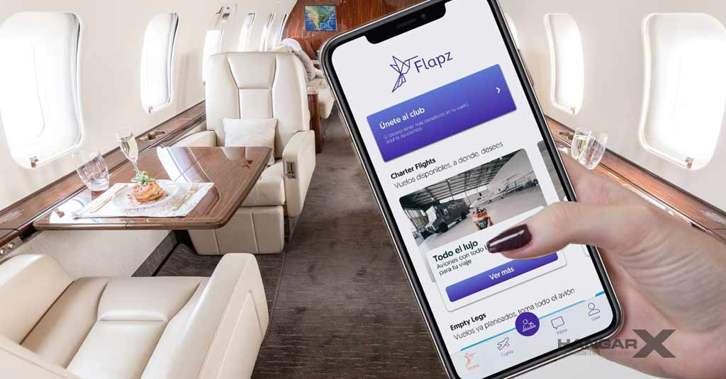 flapz marketplace vuelos privados app